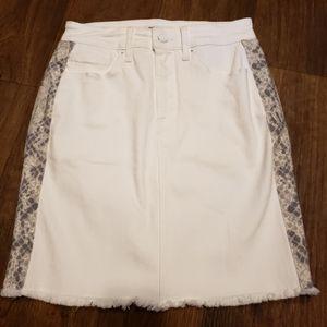 NWOT Good American Snake Print Mini Skirt